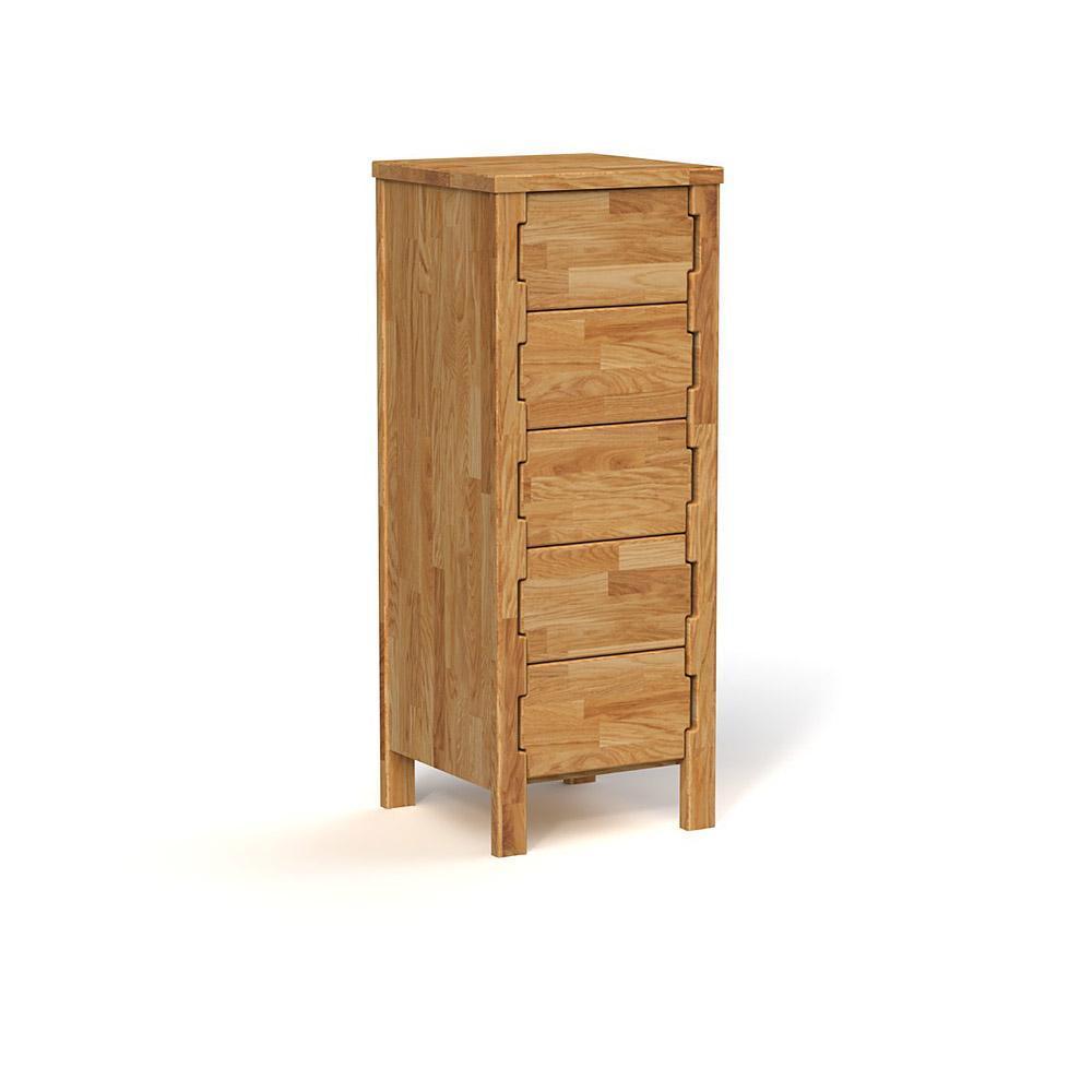 Cabinet din lemn masiv de stejar natural Koli, L47xl47xh121 cm