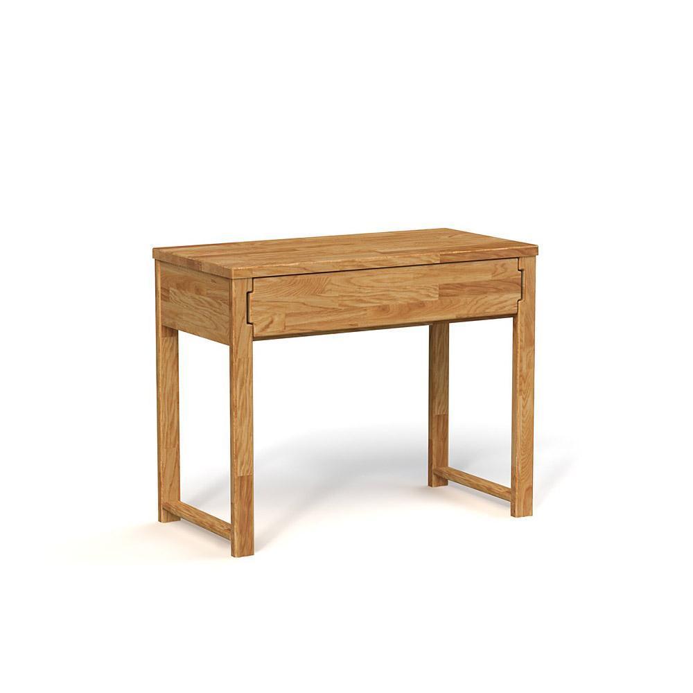 Masa de birou din lemn masiv de stejar natural Koli, L100xl51xh80 cm