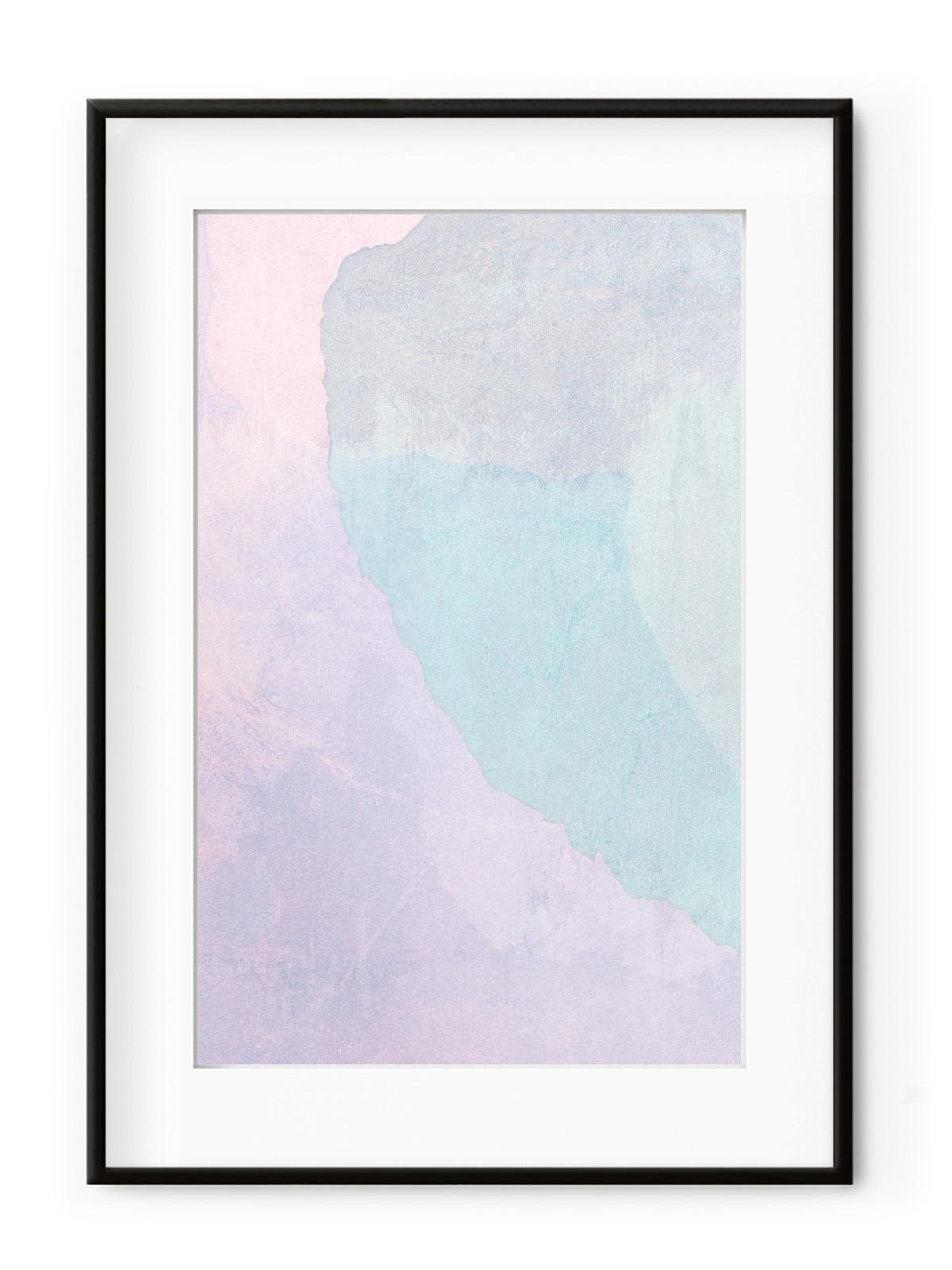 Tablou Violet + Blue Aluminium Noir