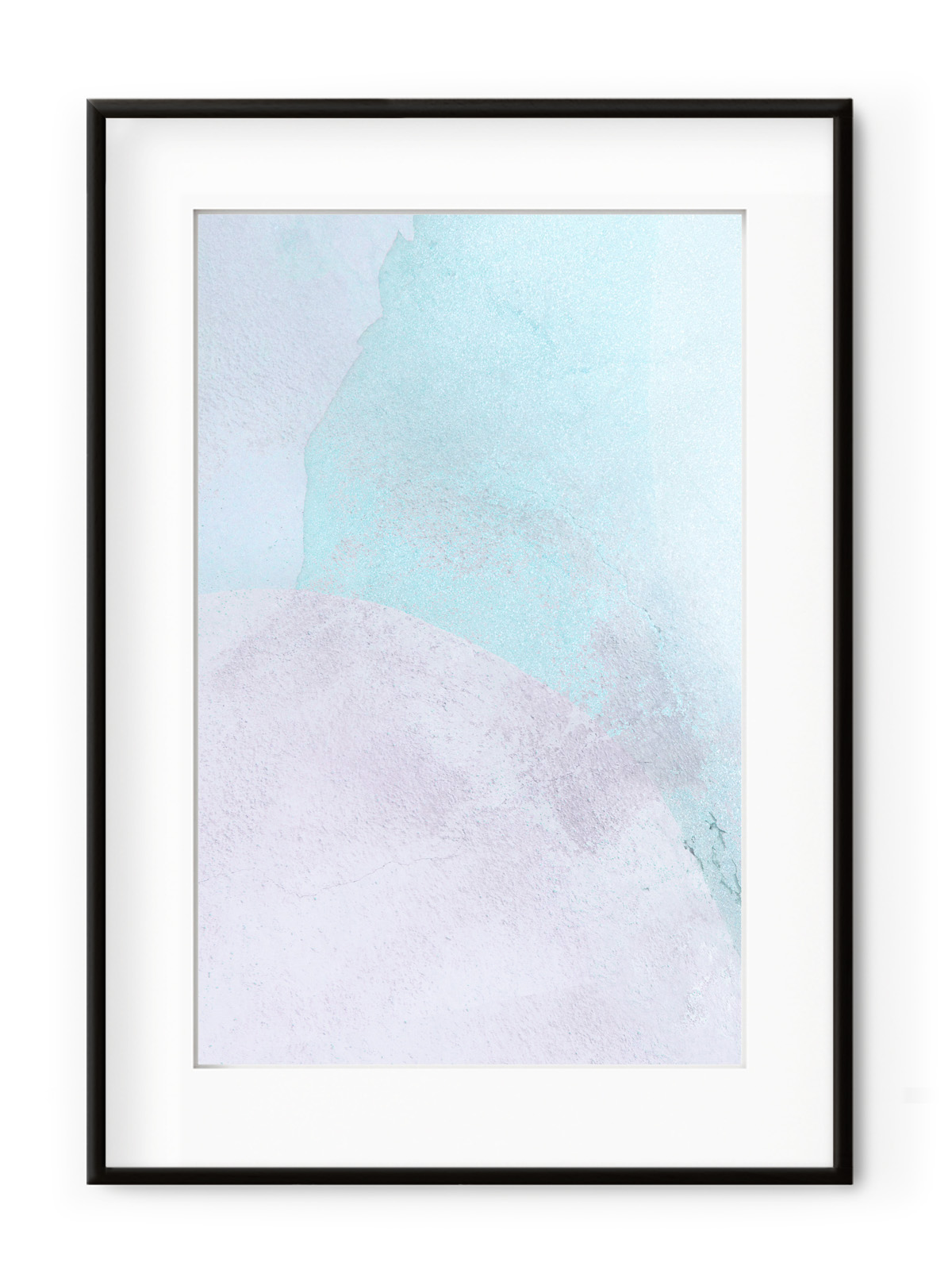 Tablou Violet + Blue II Aluminium Noir