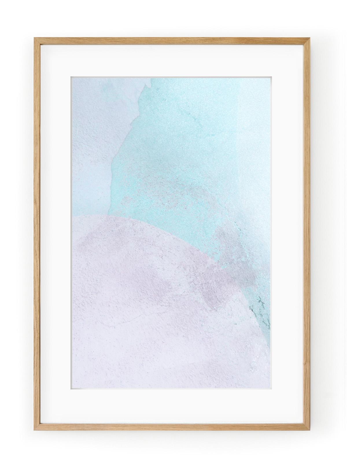Tablou Violet + Blue II Oak