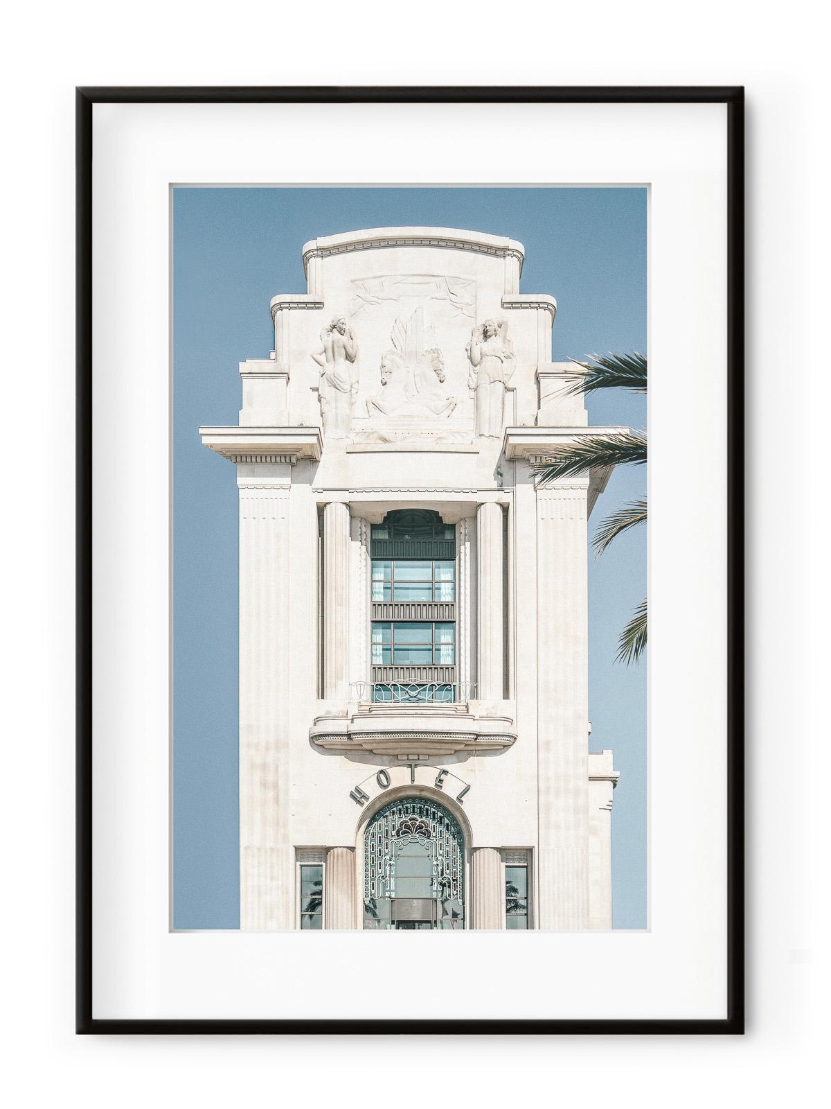 Tablou Palm Hotel Aluminium Noir