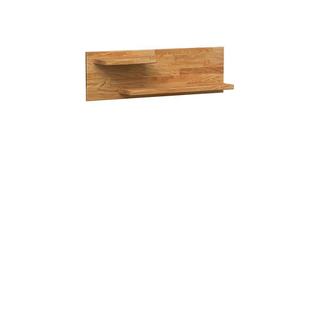 Etajera din lemn masiv de stejar natural Koli L100xl20xh30 cm