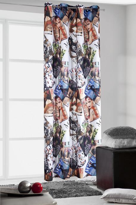 Draperie Evelin 140 x 245 cm 1 bucata Rosu / Albastru