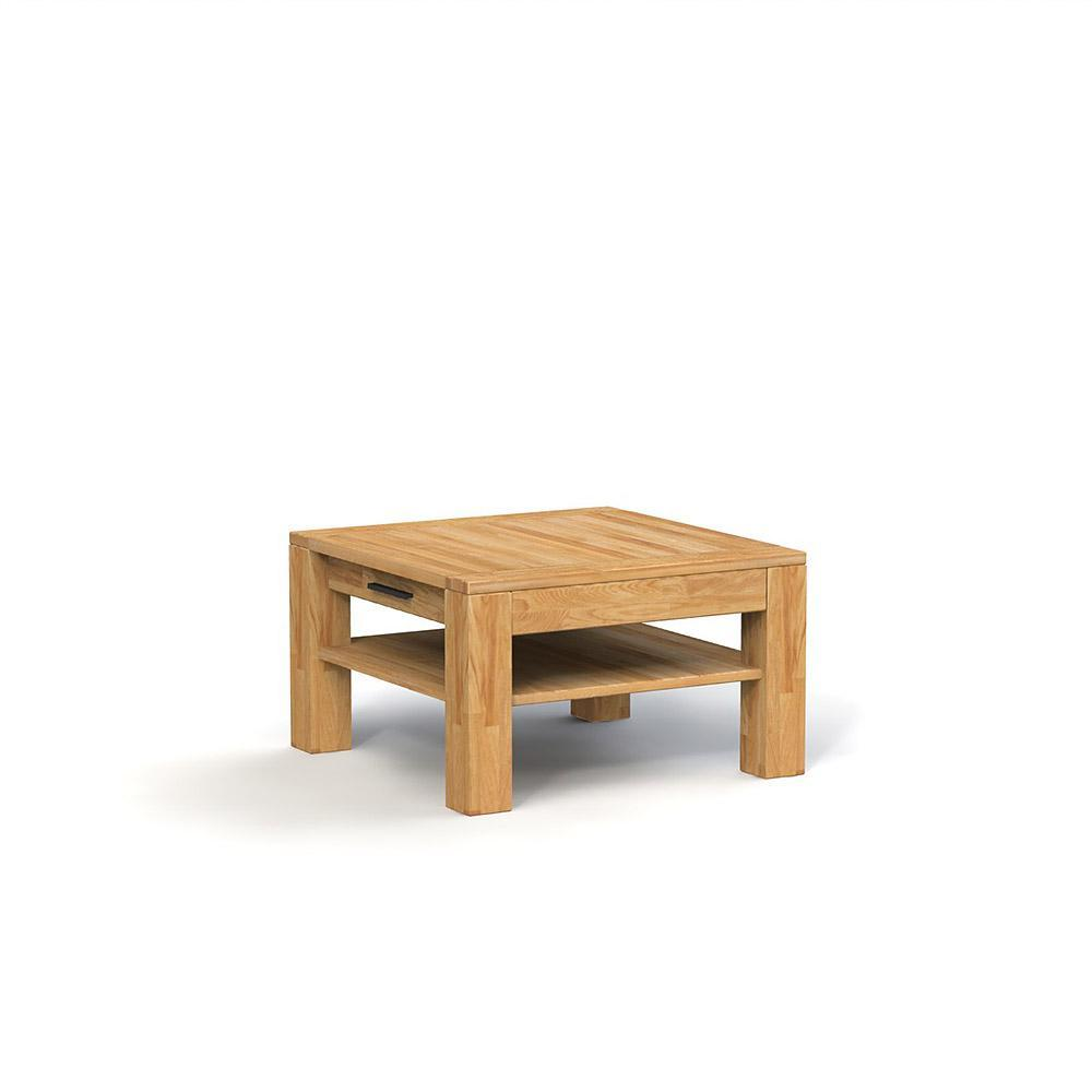 Masa de cafea din lemn masiv de stejar Cubic, L70xl70xh53 cm