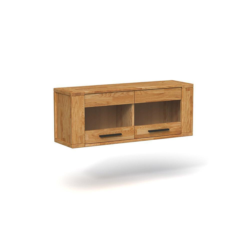poze cu Comoda suspendata din lemn masiv de stejar natural Cubic, L111xl32xh43 cm