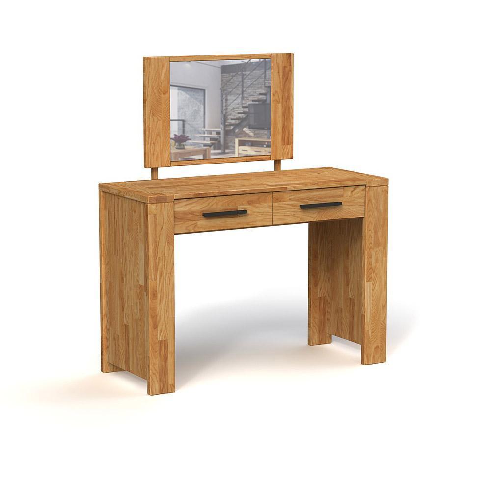 Masa de toaleta din lemn masiv stejar natural Cubic