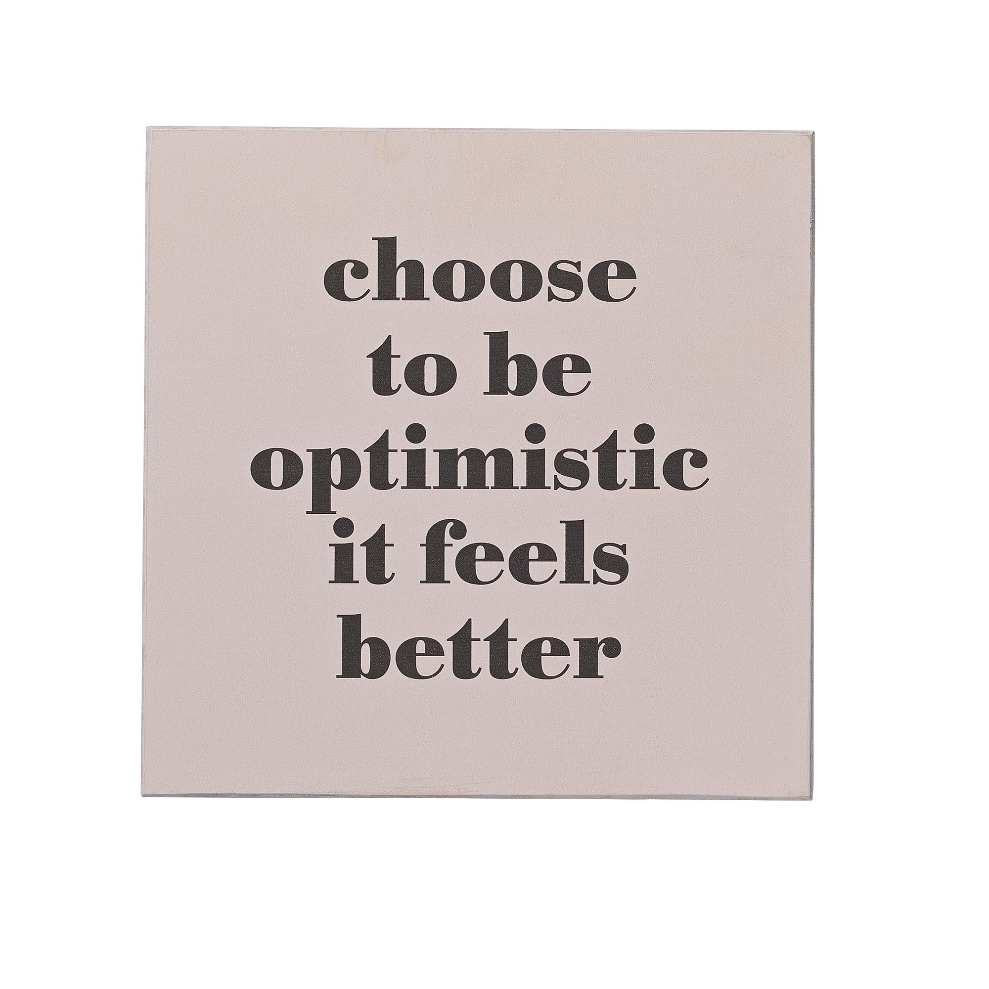 Mesaj motivational  Optimistic  Rose MDF