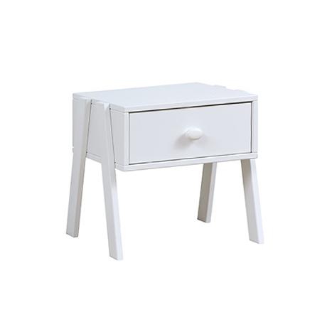 Noptiera din lemn de Pin Silversparkle White l435xA40xH42 cm