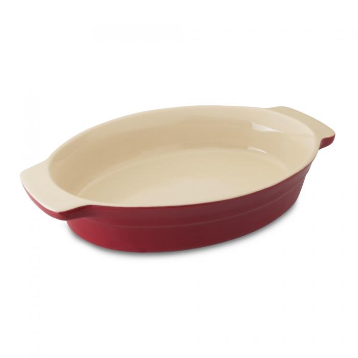 Tava Ceramica Ovala, Red, Geminis Line