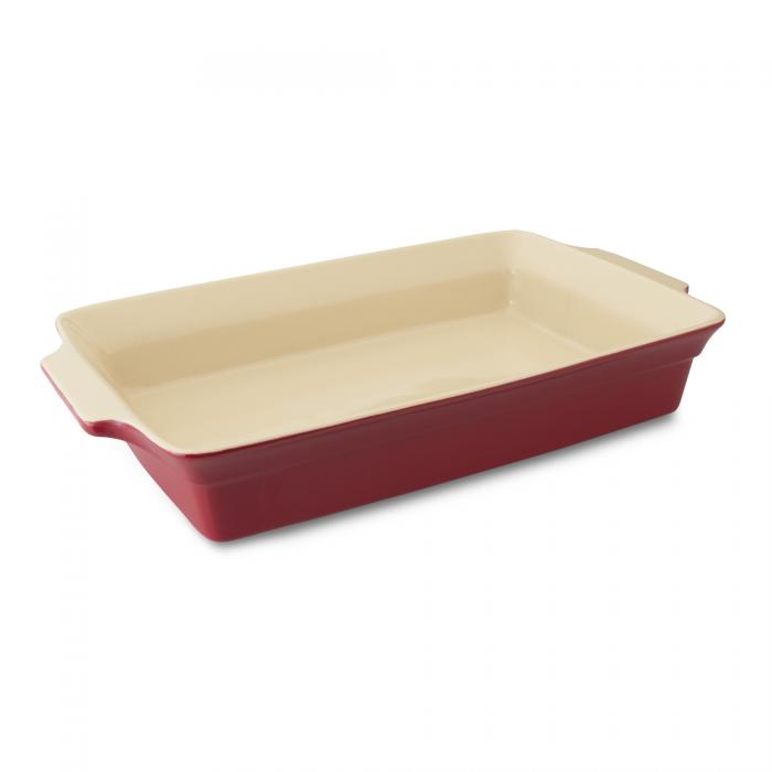 Tava ceramica dreptunghiulara Red 375 x 22 cm Geminis Line