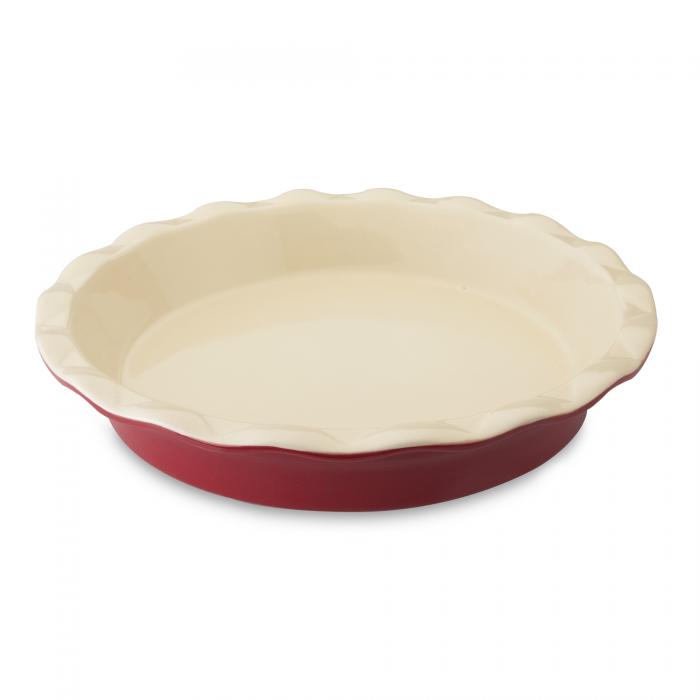 Tava ceramica rotunda 285 cm Red Geminis Line
