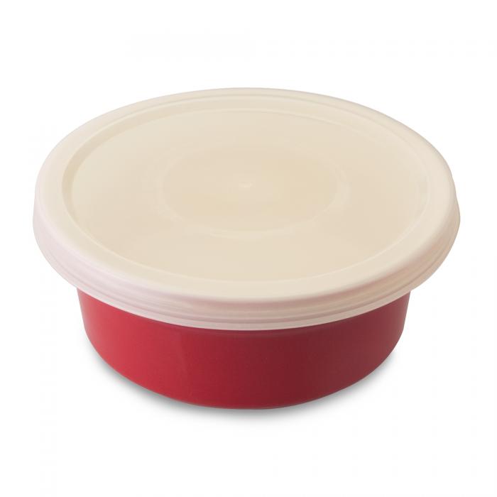Vas Ceramic Rotund Cu Capac  14 5 Cm  Red  Geminis