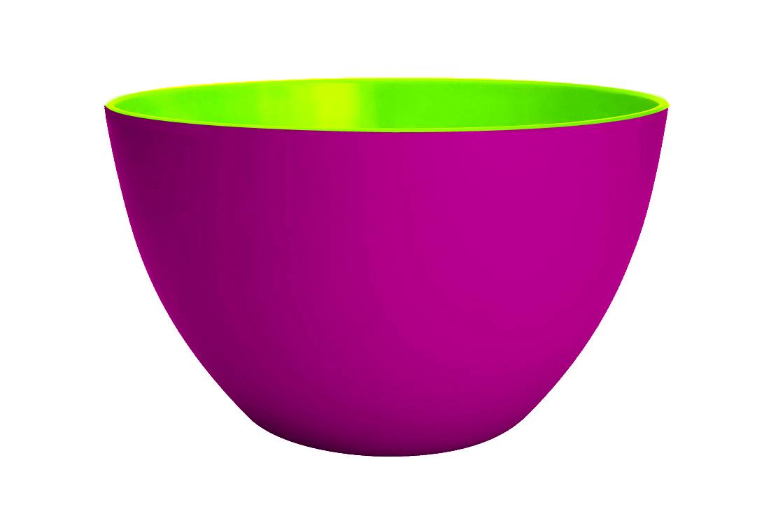 Bol salata Duobowl Magenta/Verde, Ø18 cm imagine