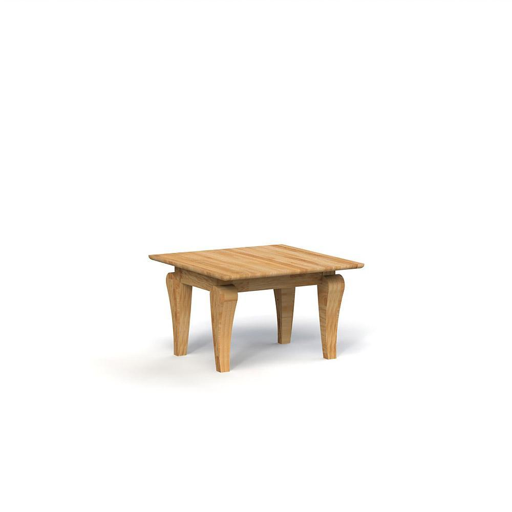 Masa de cafea din lemn masiv de stejar Bona, L80xl80xh50 cm