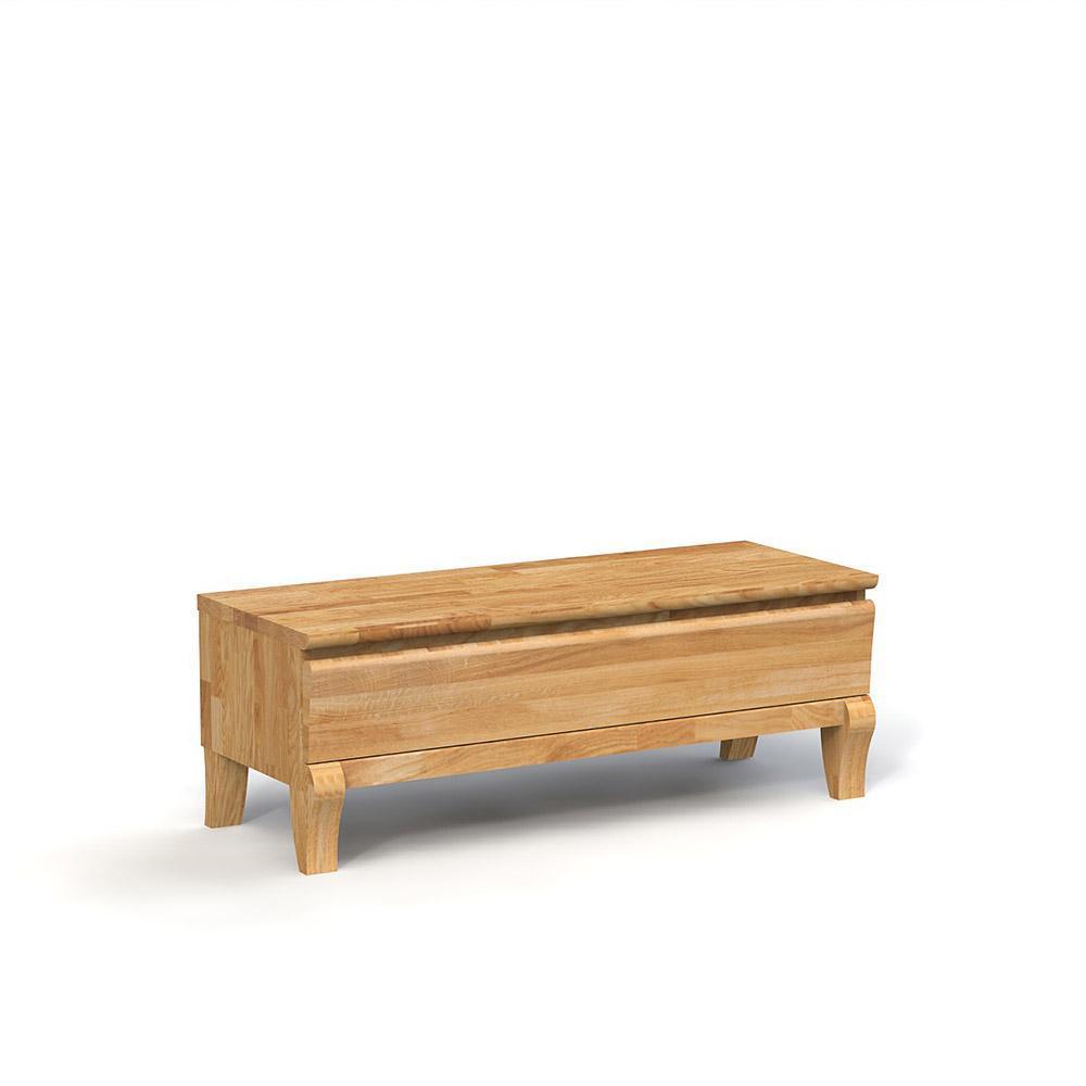 Comoda TV din lemn masiv de stejar natural Bona, L120xl46h43 cm