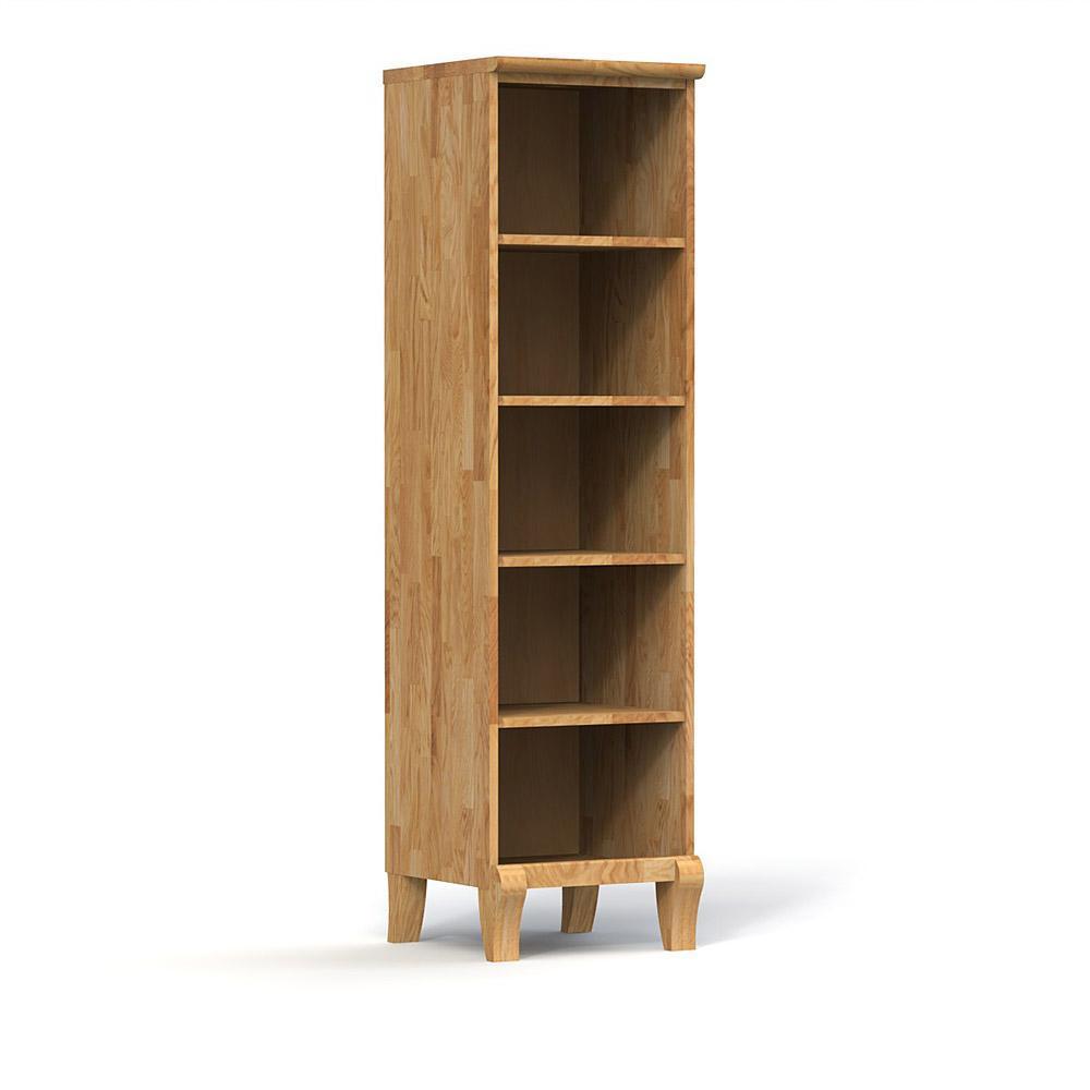 Biblioteca din lemn masiv de stejar natural Bona, L50xl50xh186 cm