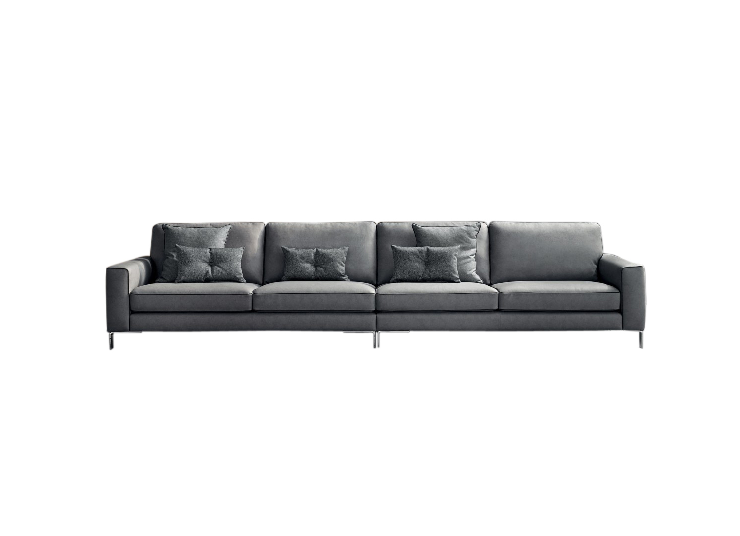 Canapea fixa 4 locuri din piele Russel Double