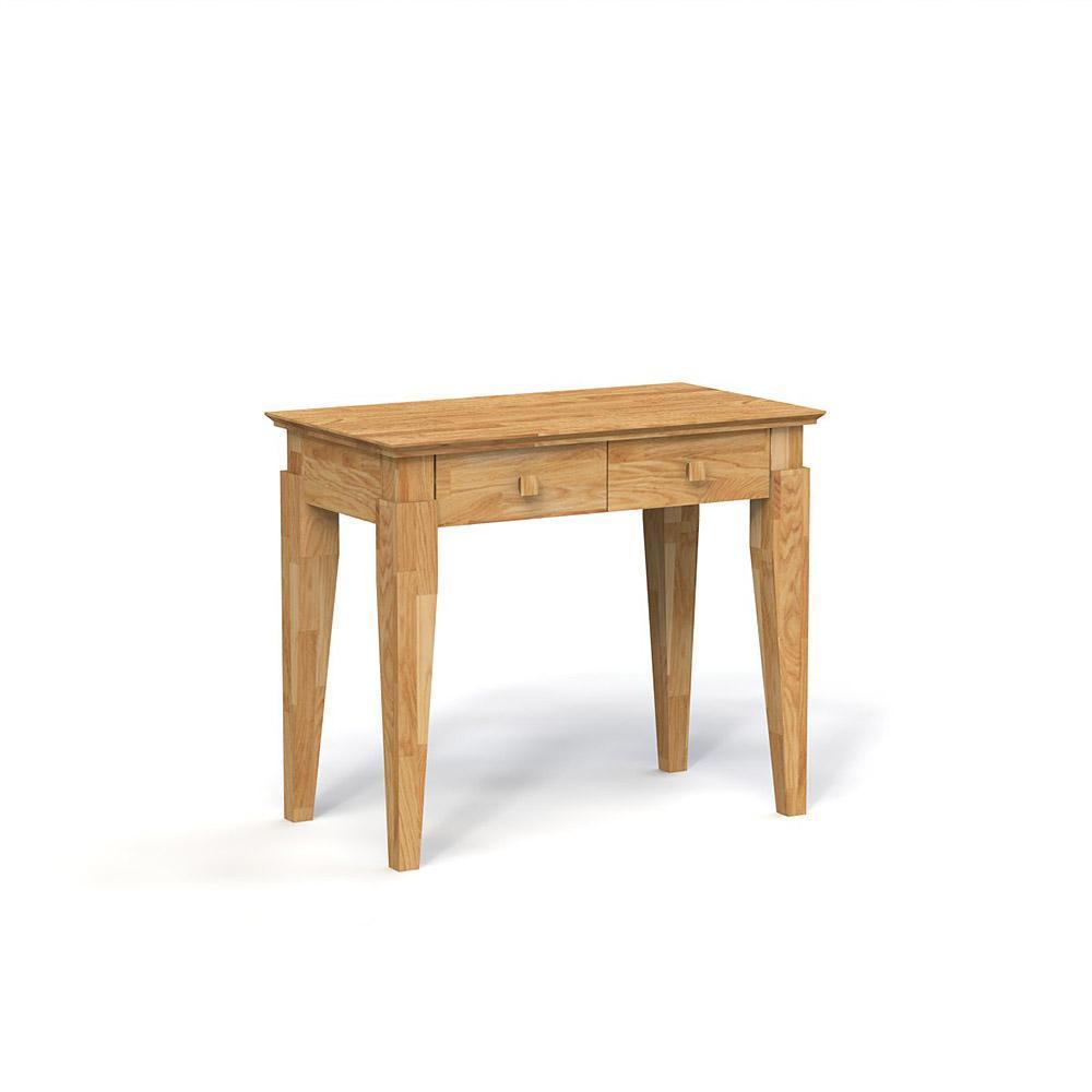 Masa de toaleta din lemn masiv de stejar natural Odys, L90xl50xh77 cm
