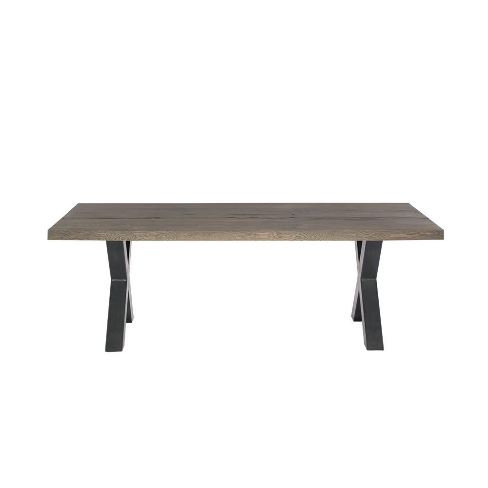 Masa din lemn de stejar salbatic Albert, L180xl100xh76 cm
