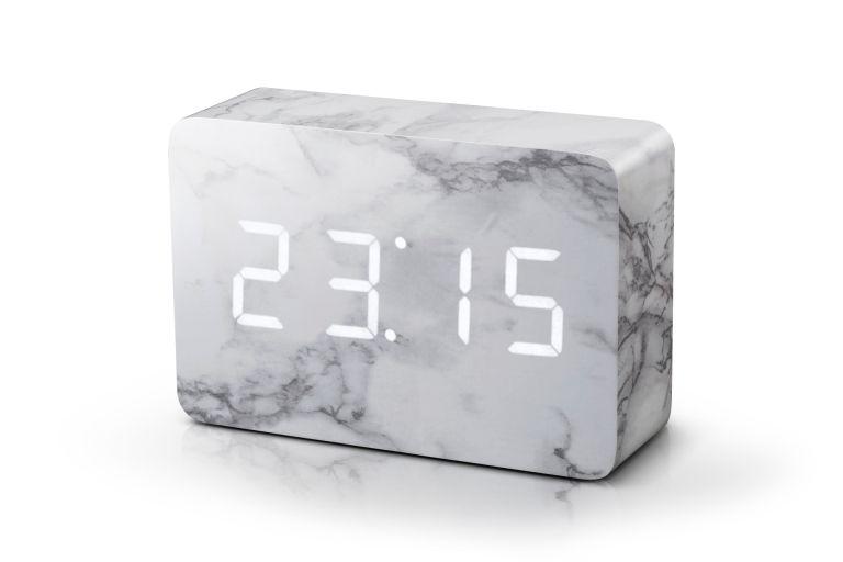 Ceas Cu Functie De Intensitate Redusa Brick Click Clock Marble/white