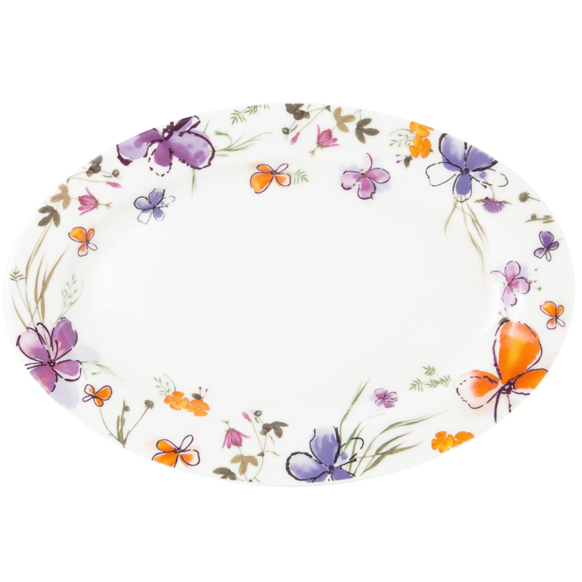 Platou servire oval 22 cm Portelan Aquarelle