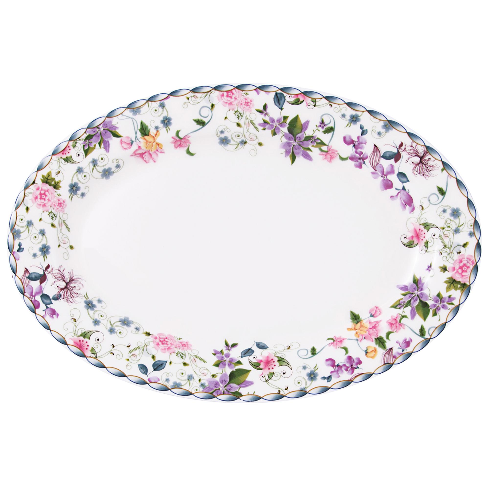 Platou servire oval 22 cm Portelan Versailles