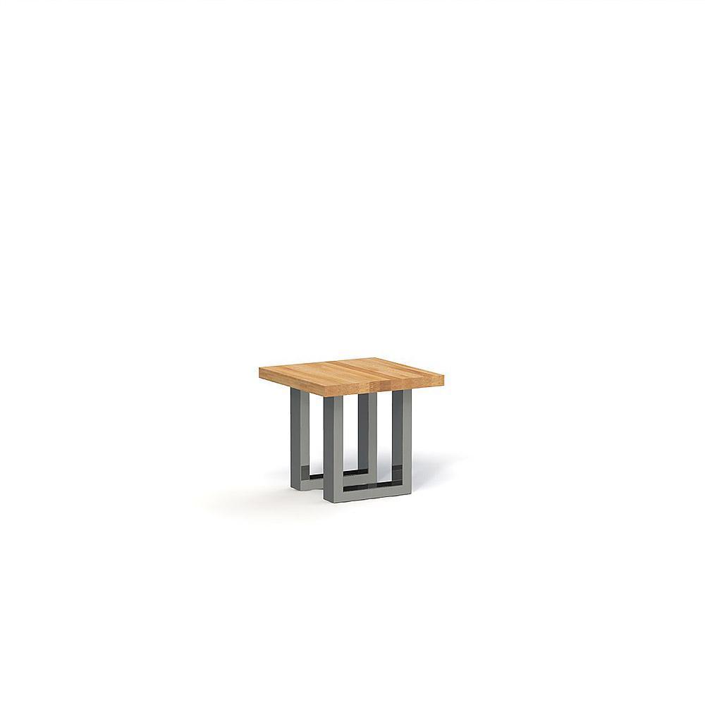 Masa de cafea din lemn masiv de stejar natural Steel, L50xl50xh45 cm