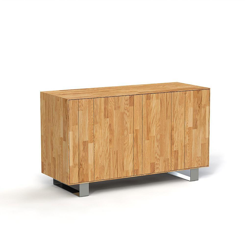 poze cu Comoda din lemn masiv de stejar natural Steel, L132xl50xh78 cm
