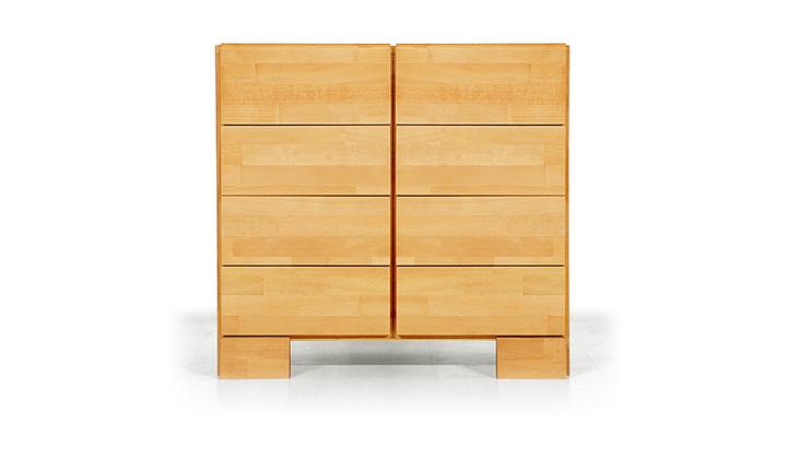 Dulap cu 8 sertare din lemn masiv de fag Seti 800