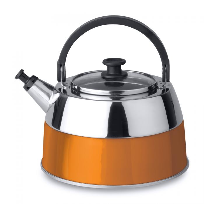 Ceainic cu fluier, Orange, 2,5 L, Virgo Line