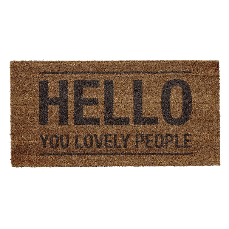 "Pres """" Hello You Lovely People """" Maro, l40xL80xH1,5 cm imagine"