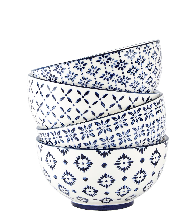 Bol Villa Collection, White / Blue, 300 ml, 262042