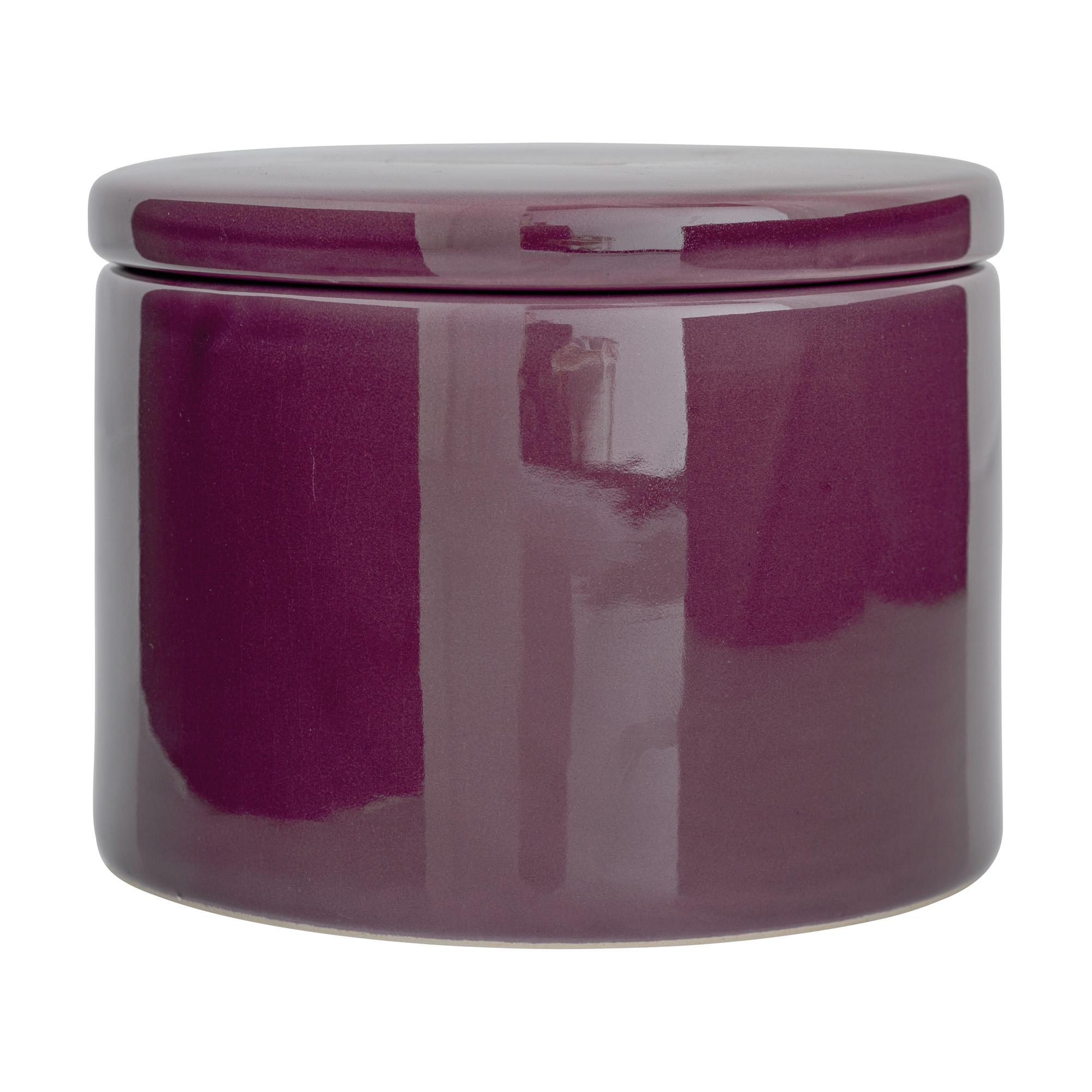 Recipient pentru depozitare Jar Purple Ceramica O15xH10 cm