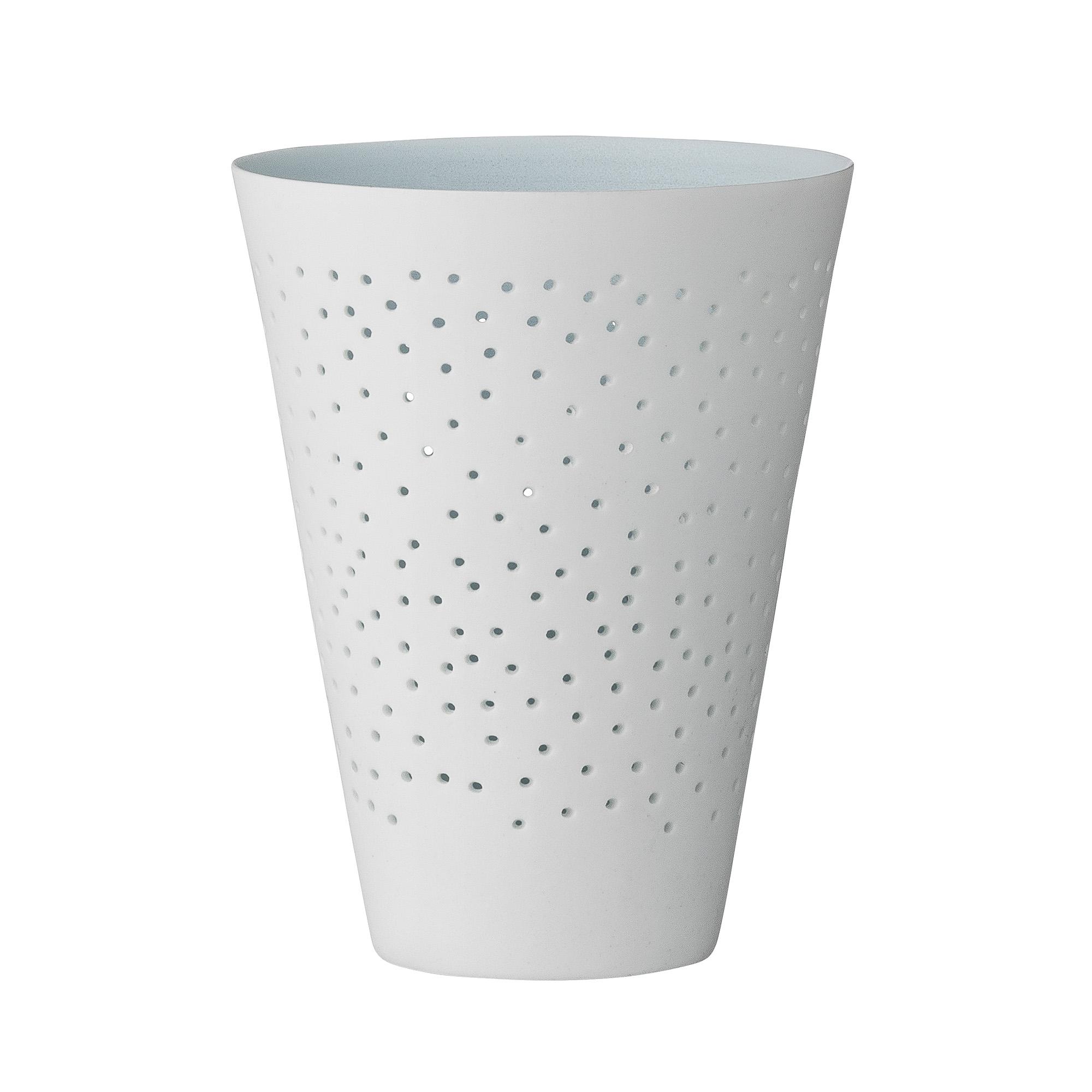 Vaza Dots Alb, Portelan, Ø8xH10,5 cm title=Vaza Dots Alb, Portelan, Ø8xH10,5 cm
