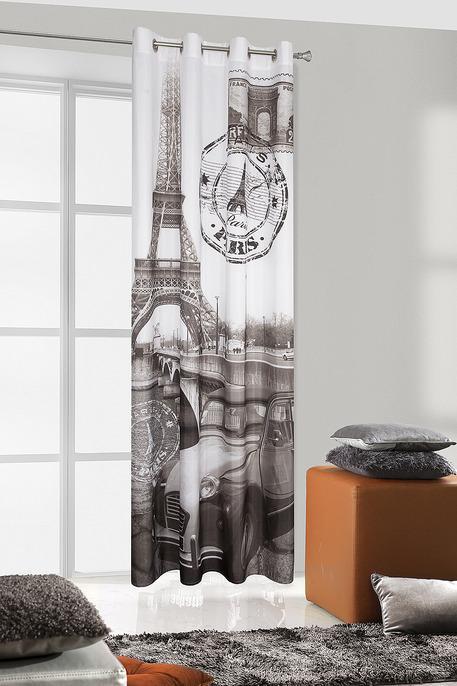 Perdea Paris 135X245 Crem/Gri Inchis 1 buc