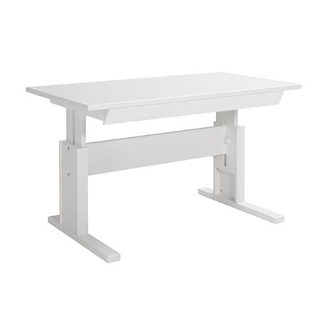 Masa de birou ajustabila cu sertar White, L120xl67xh56/78 cm