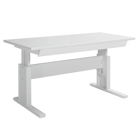 Masa De Birou Ajustabila Cu Sertar White, L140xl67xh56/78 Cm