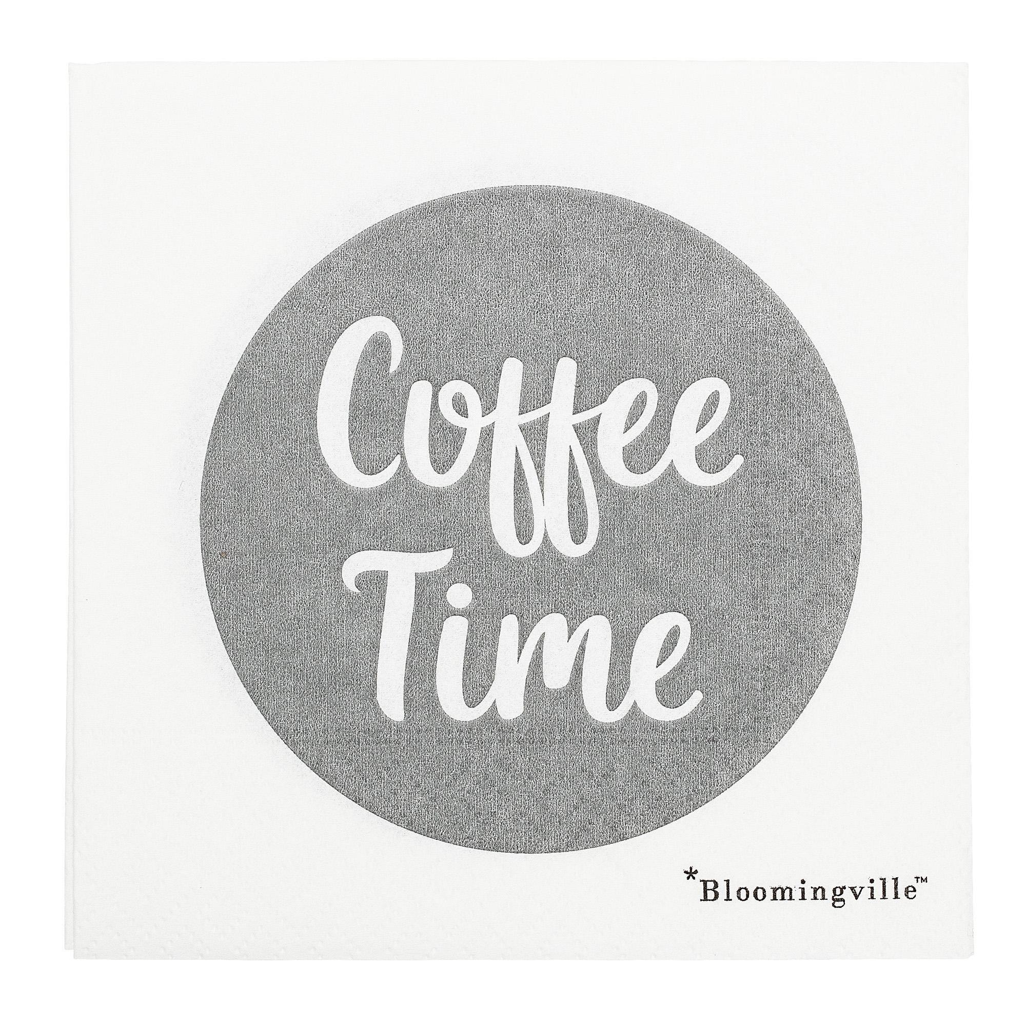 Servetele de hartie Coffee Time Grey/White