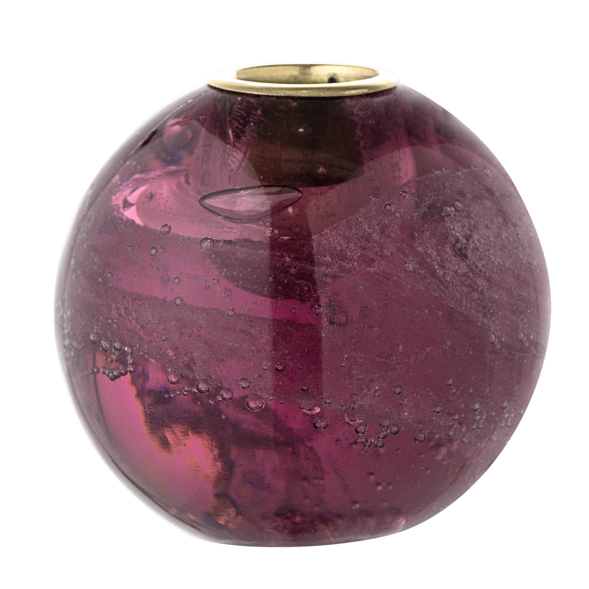 Suport lumanari Purple Sticla