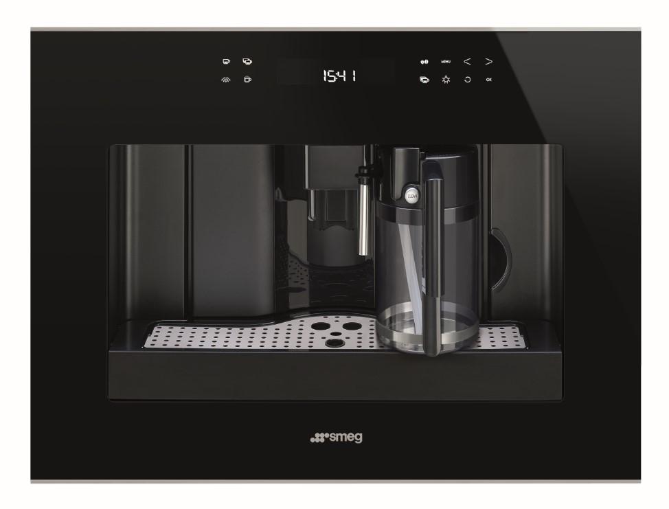 Espressor incorporabil automat CMS4601NX Sticla neagra 60x45 cm Dolce Stil Novo SMEG
