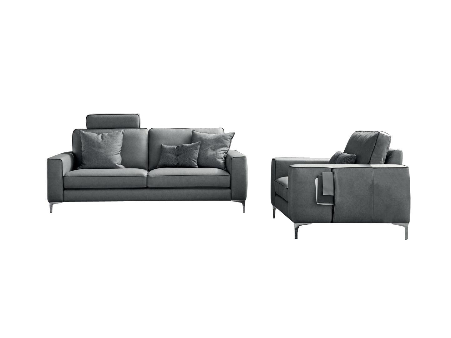 Canapea fixa 3 locuri din piele Russel