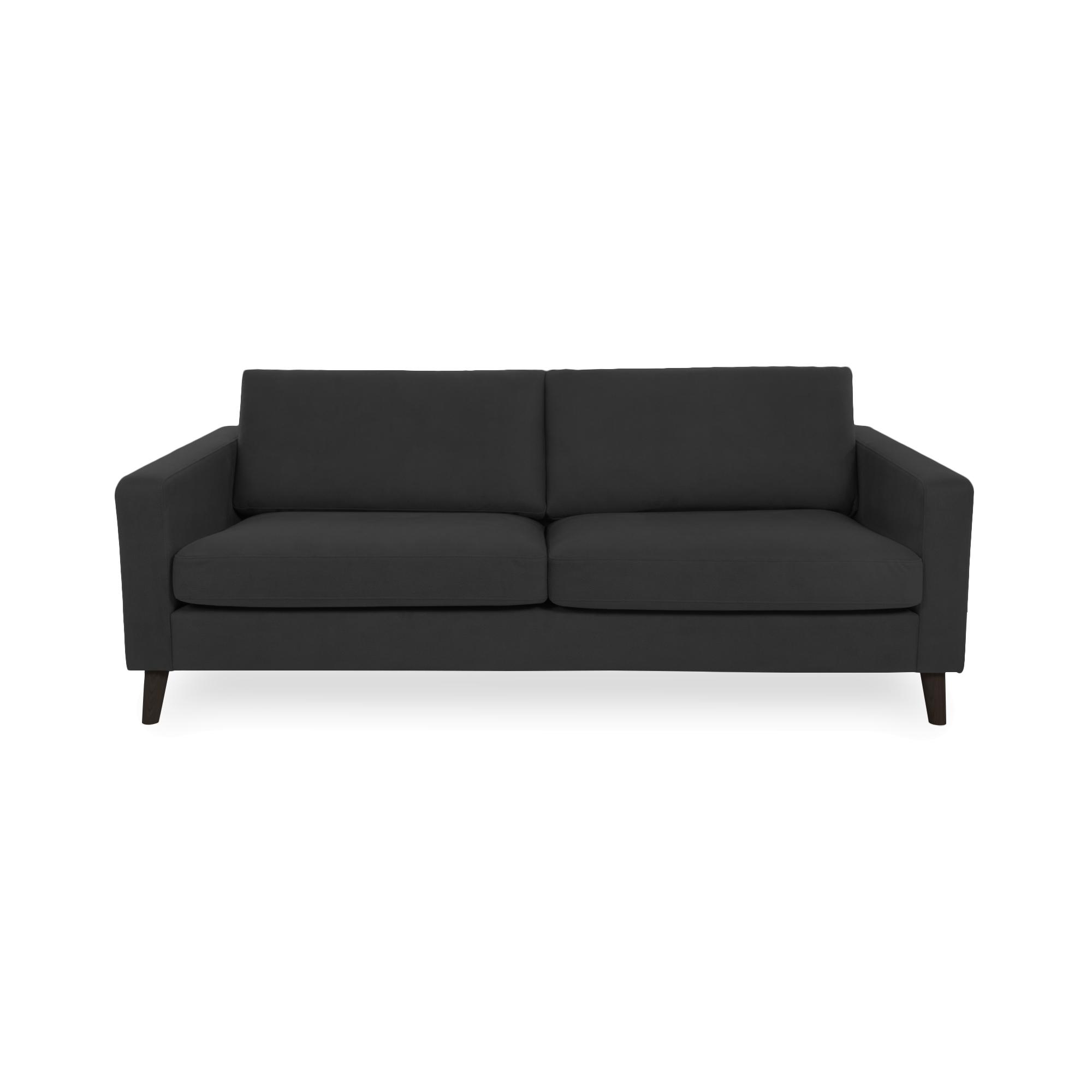 Canapea Fixa 3 locuri Tom Antracit/Black