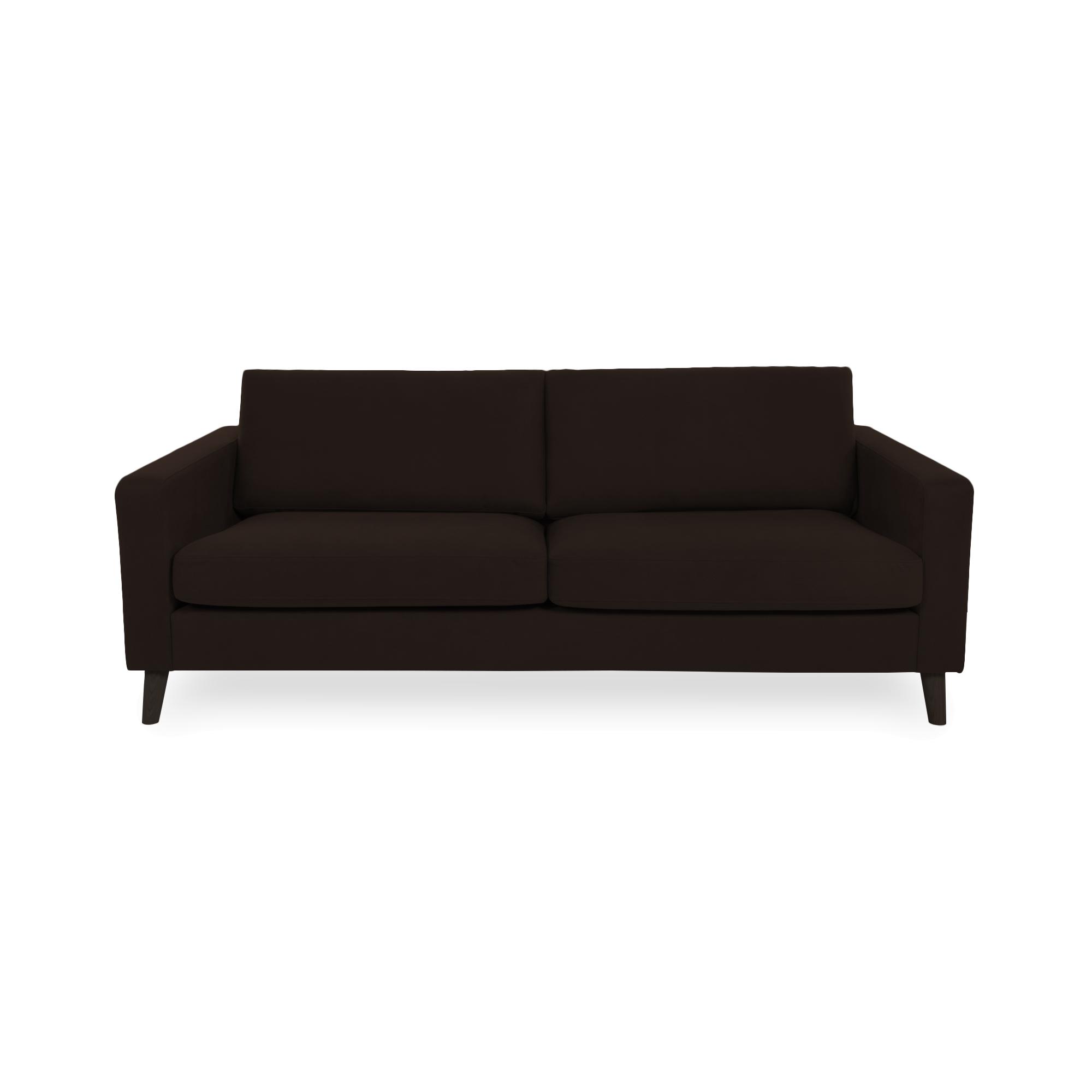 Canapea Fixa 3 locuri Tom Brown/Black