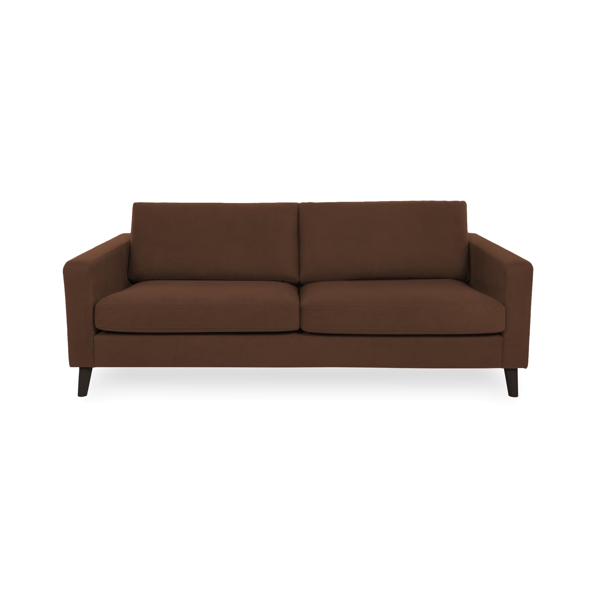 Canapea Fixa 3 locuri Tom Cognac/Black