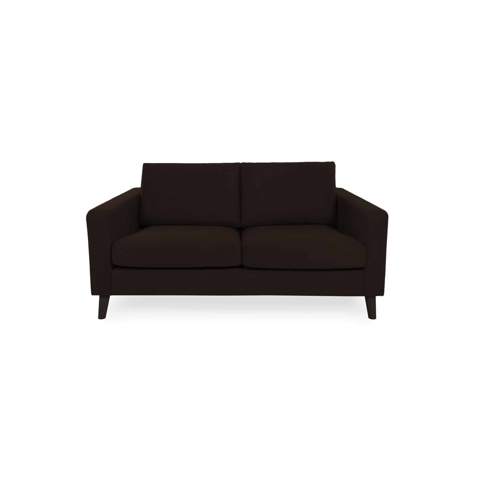 Canapea Fixa 2 locuri Tom Brown/Black