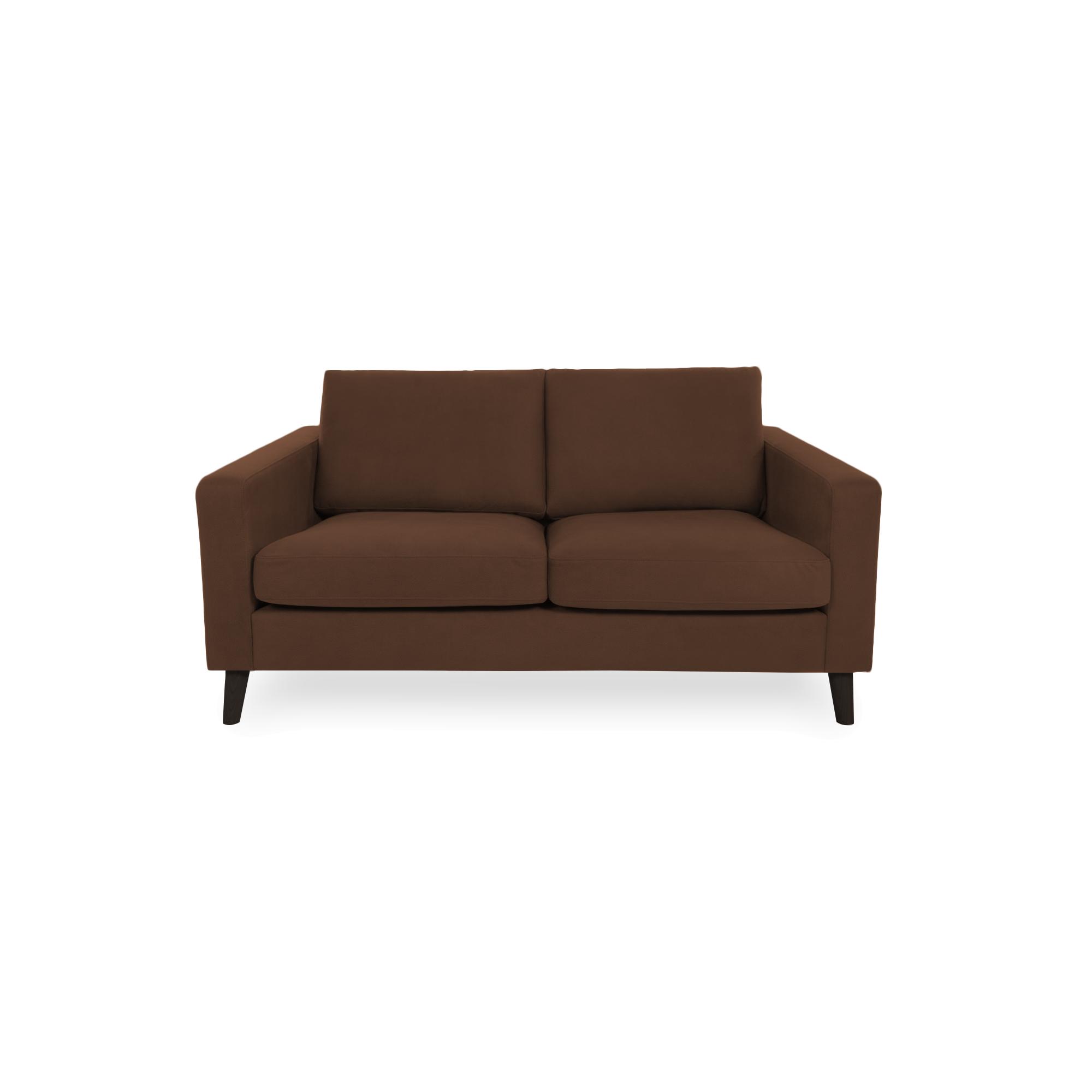 Canapea Fixa 2 locuri Tom Cognac/Black