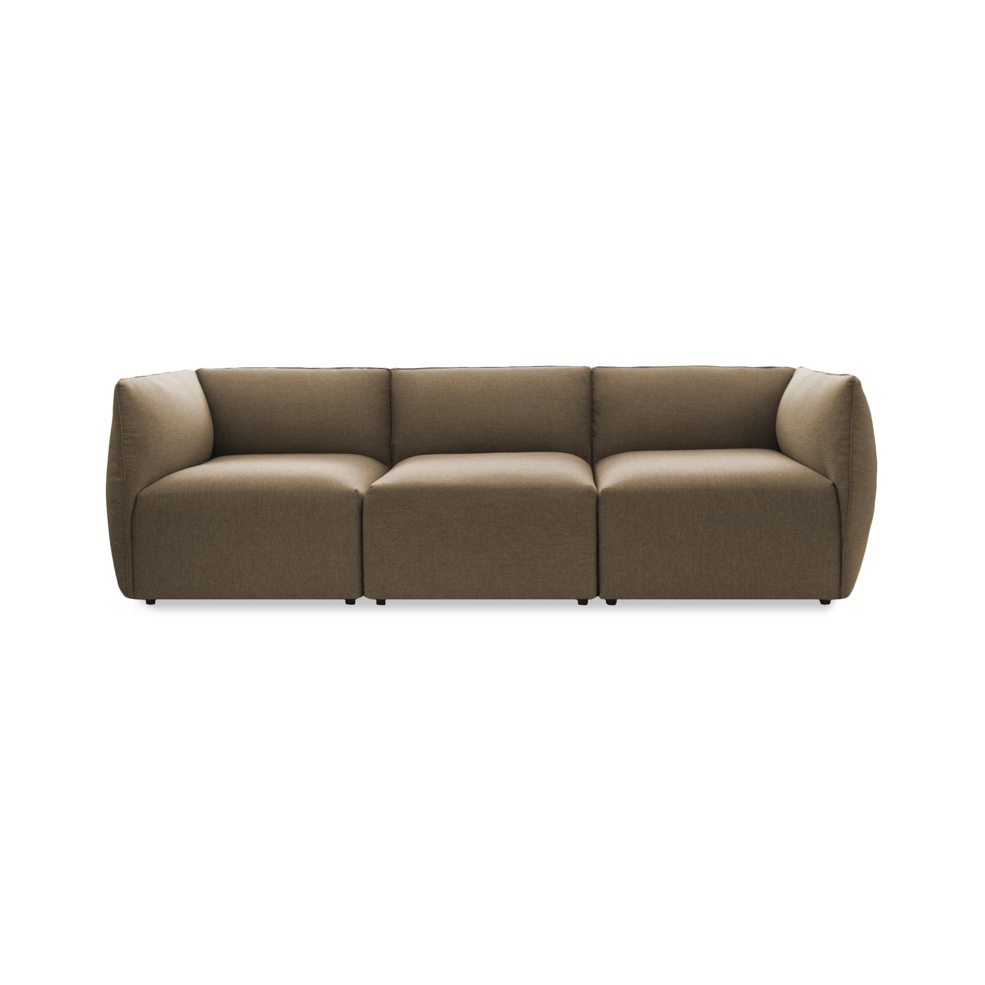 Canapea Fixa 3 locuri Cube Beige