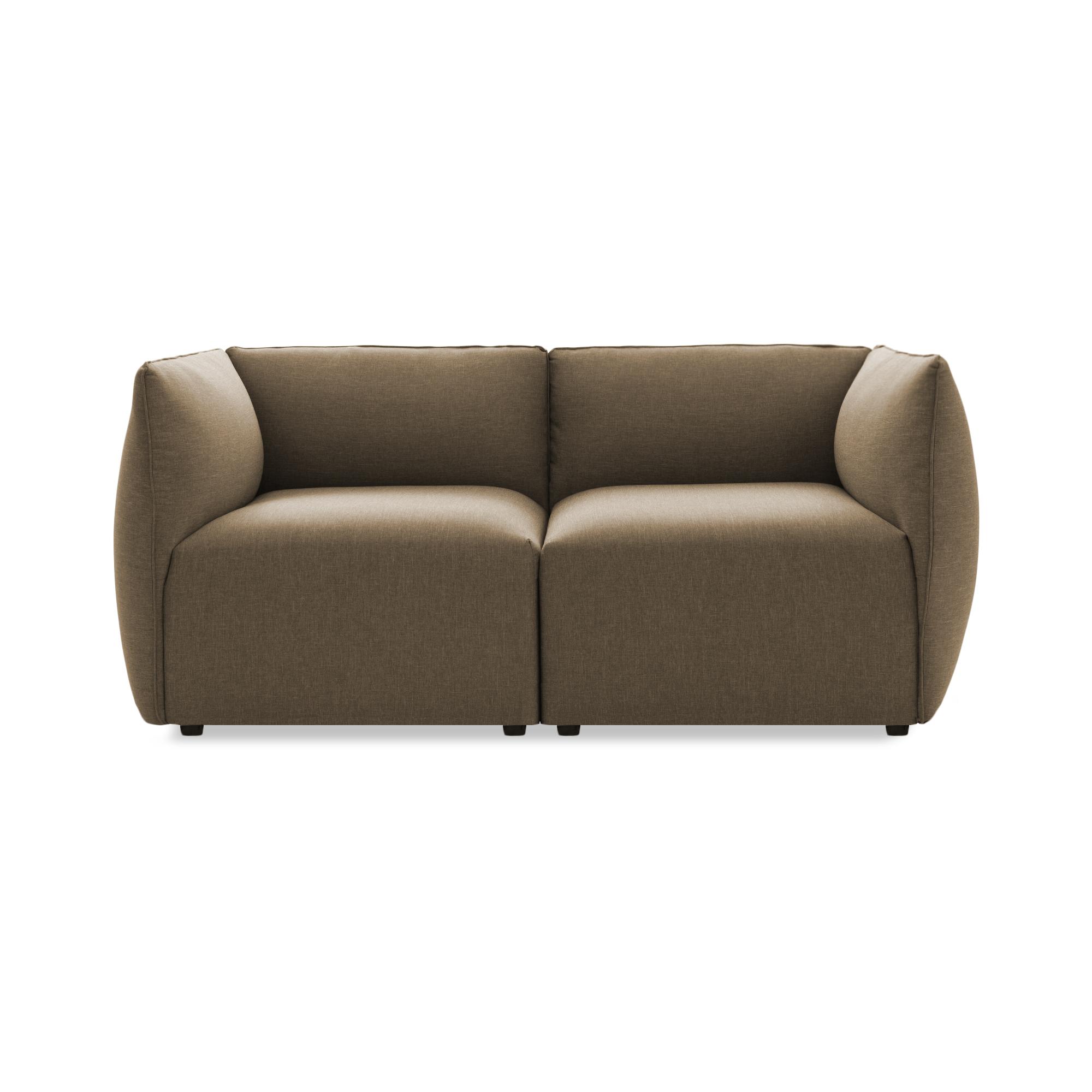 Canapea Fixa 2 locuri Cube Beige