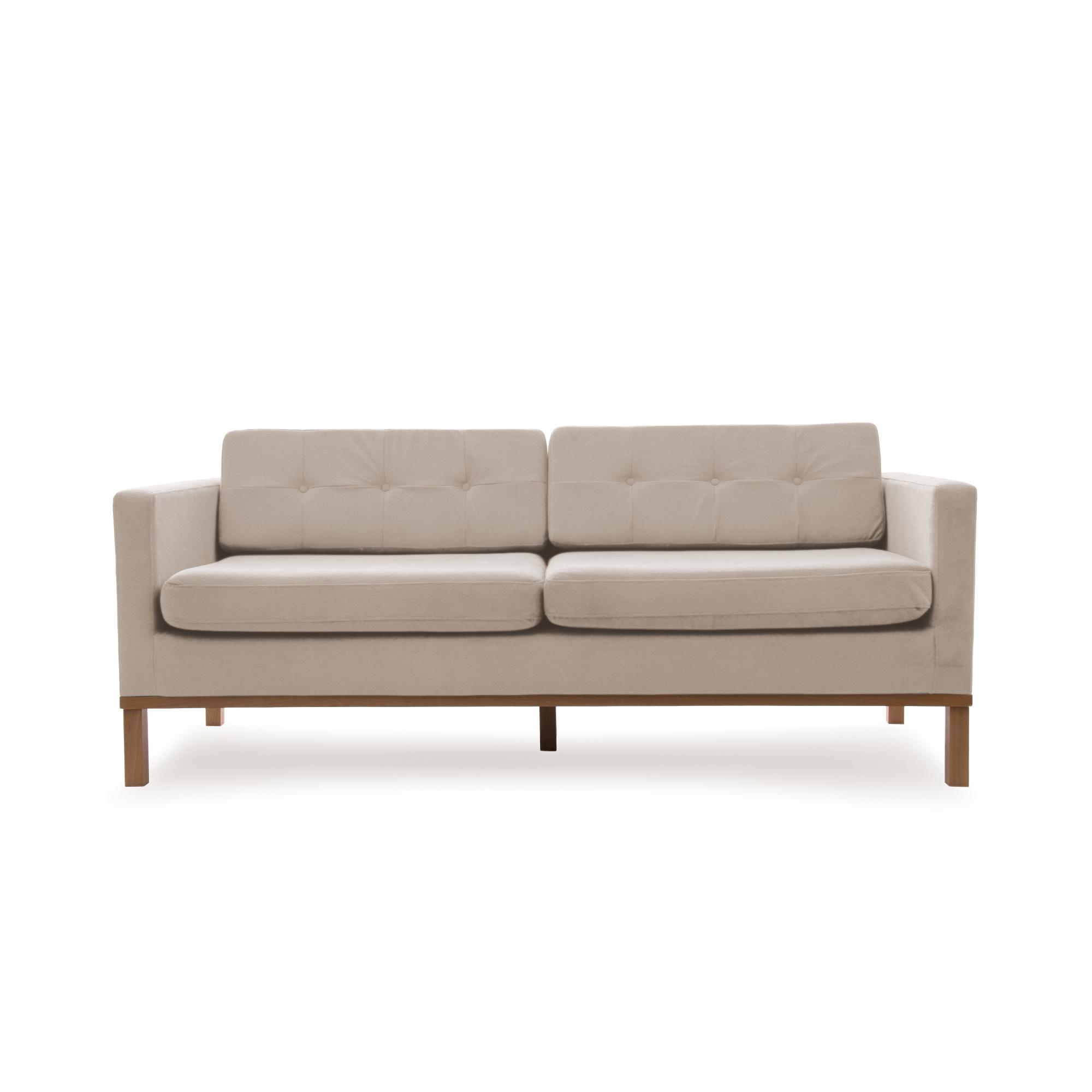 Canapea Fixa 3 locuri Jonan Beige/Natural